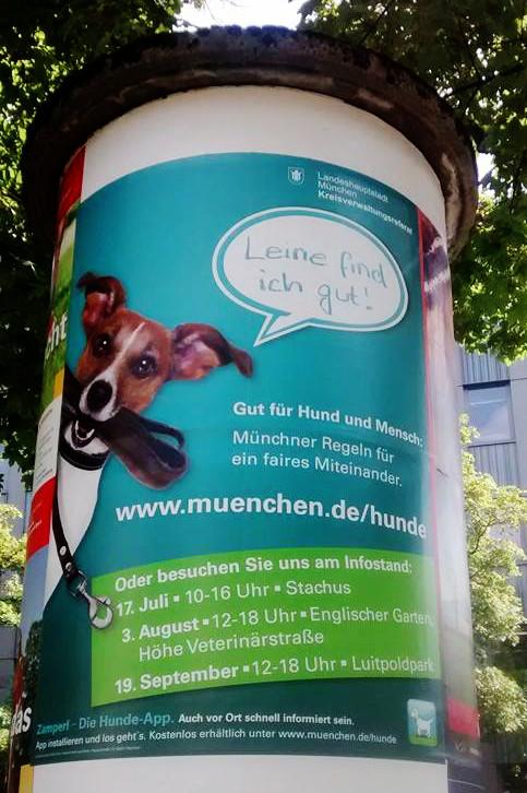 """""""Leine find ich gut"""": Plakatkampagne der Stadt München"""