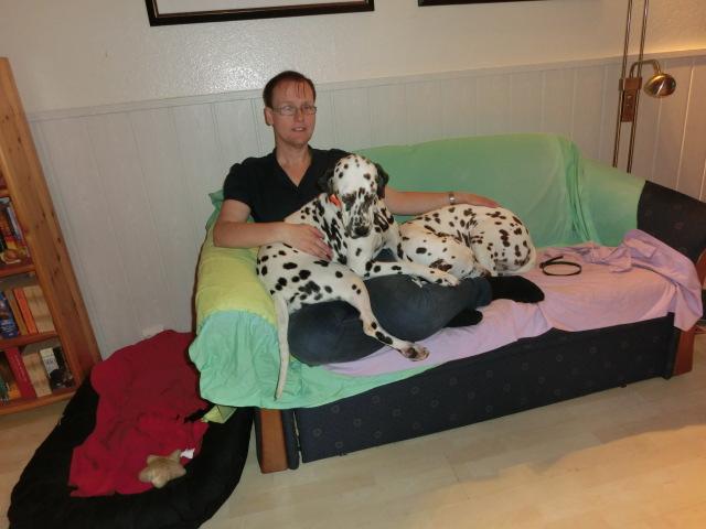 Simone und ihre beiden Dalmatiner-Mächen Silva und Duna. Foto: Punkstesturm