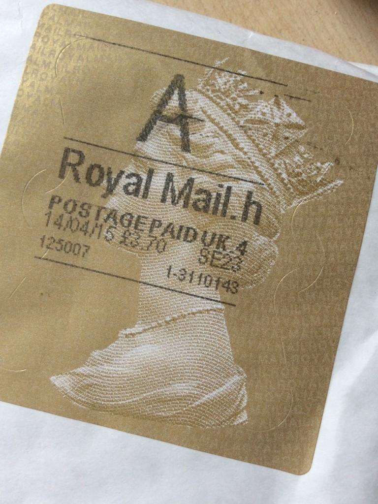 Royal Mail - der Umschlag