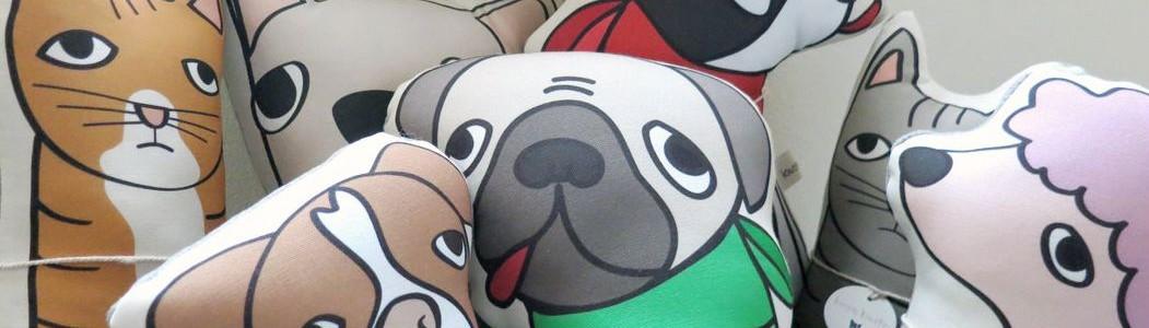 Aufgestöbert: Individualisierte Hunde-Kissen
