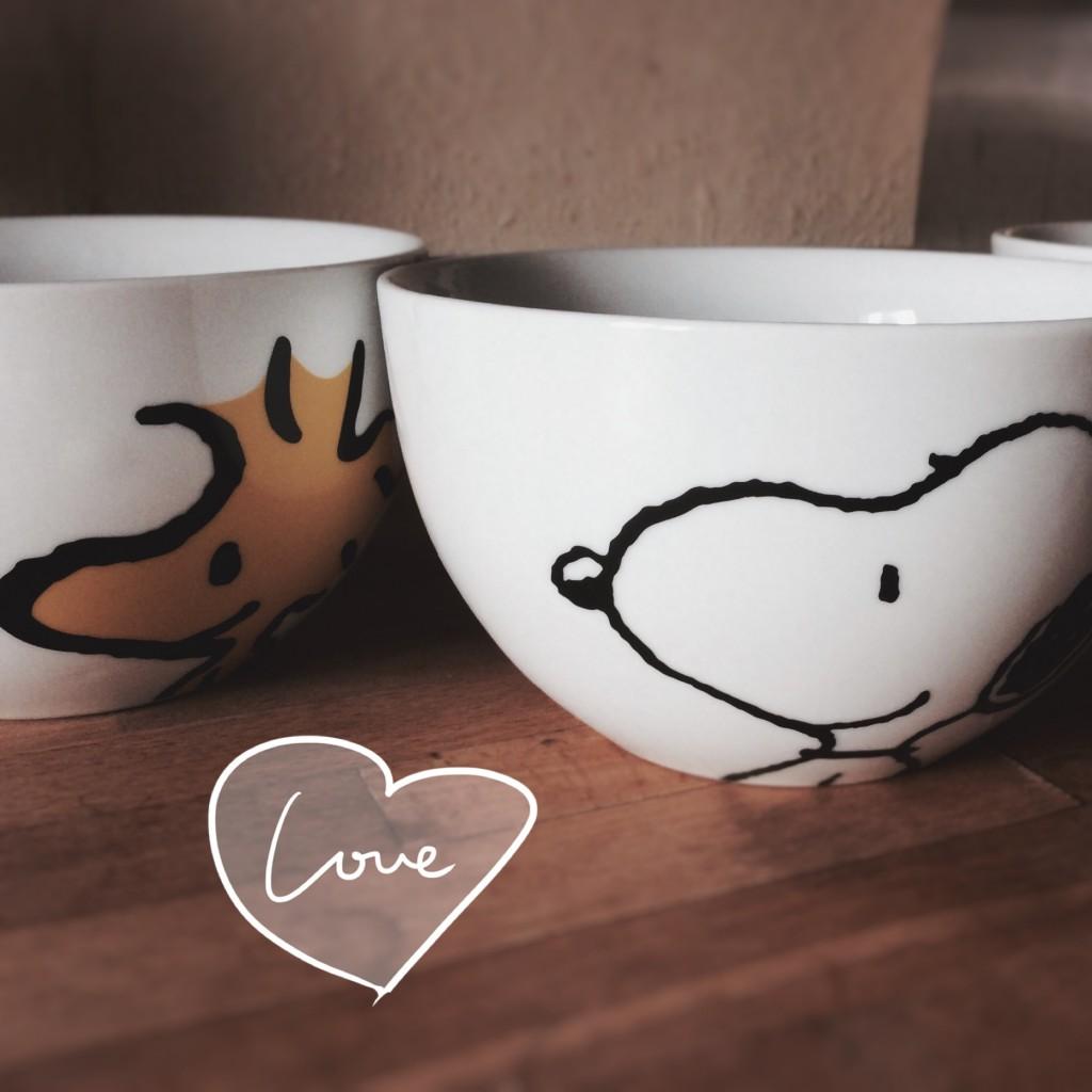 Peanuts Schüsseln Snoopy Woodstock Lucy von Butlers
