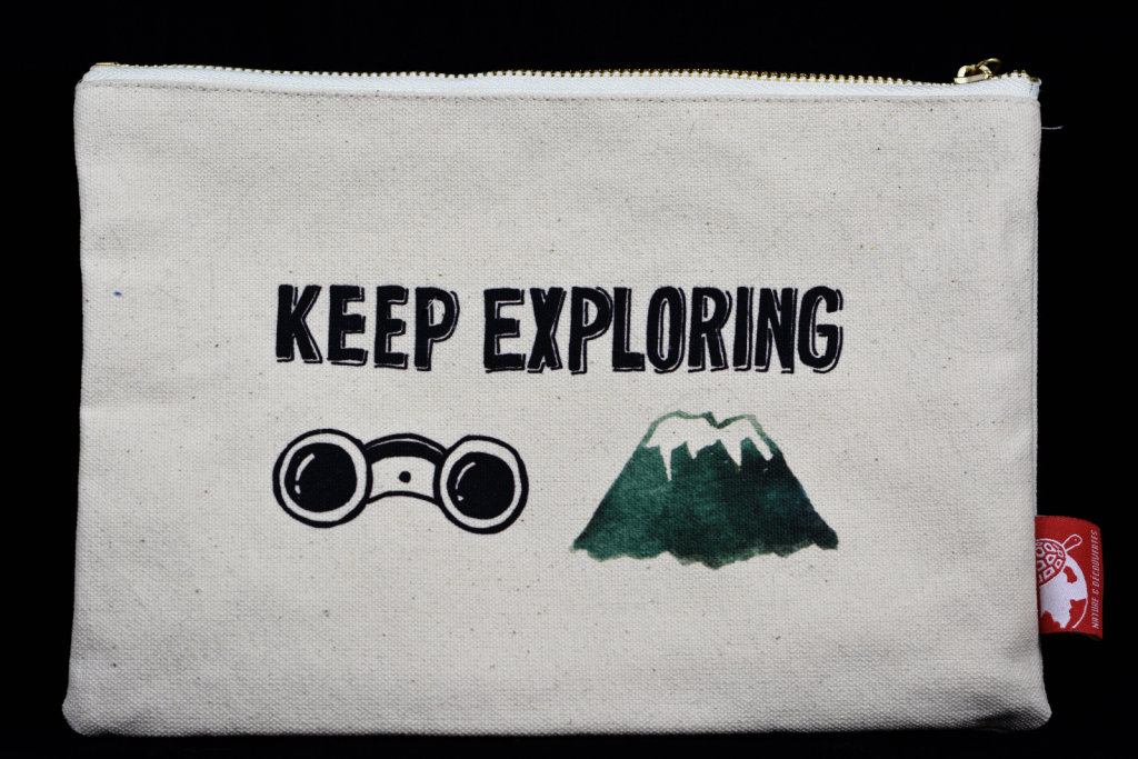 """Reißverschluss-Tasche """"Keep Exploring"""""""